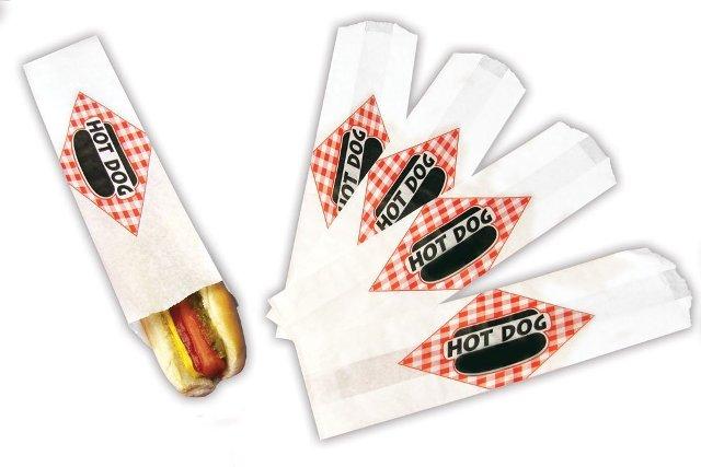 Paragon - Manufactured Fun 8053 Hot Dog Paper Bag Foot Long - 2000 Bags/Case