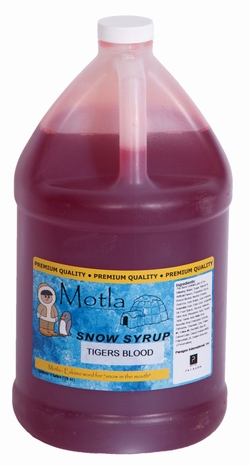Paragon - Manufactured Fun 6301 Motla Snow Cone Syrup - Tigers Blood