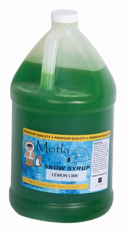 Paragon - Manufactured Fun 6308 Motla Snow Cone Syrup - Lemon Lime