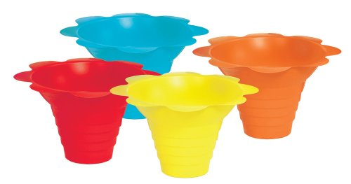 Paragon - Manufactured Fun 6502 Small Flower Drip Tray Cups - Multicolor