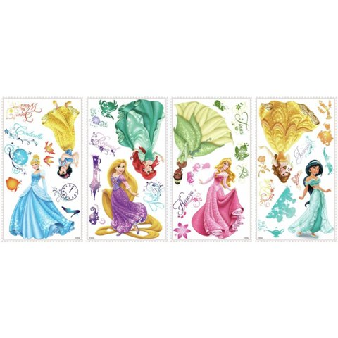 Roommates RMK2199SCS Disney Princess - Royal Debut Peel and Stick Wall Decals