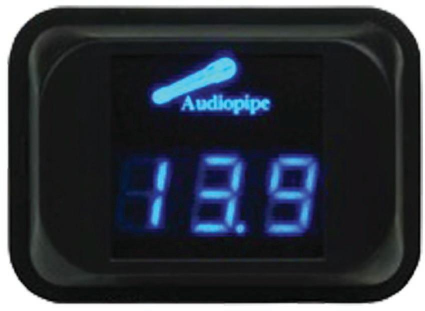 Audiopipe Digital Volt Meter, 11.1-15.9V