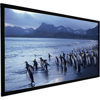 AccuScreens 800024 AccuScreens SoundScreen Fixed Projection Screen - 45 in. x 80 in. - High Contrast Gray - 92 in. Diago