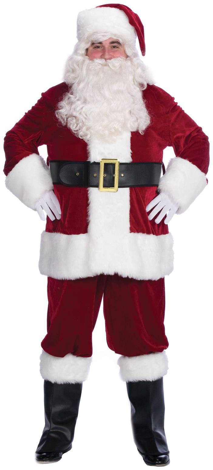 Halco 799XL 10 Piece Complete Velveteen Santa Suit- Size 50-56 jacket up to 56 waist