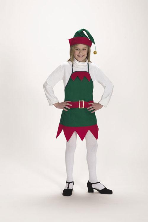 Halco 7062-C Elf Holiday Apron & Hat- Size Child 4-12