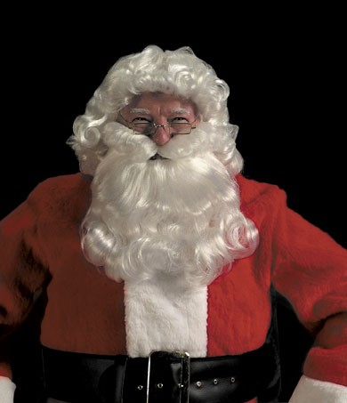 Halco 35 Deluxe Santa Curly Wig & Beard Set