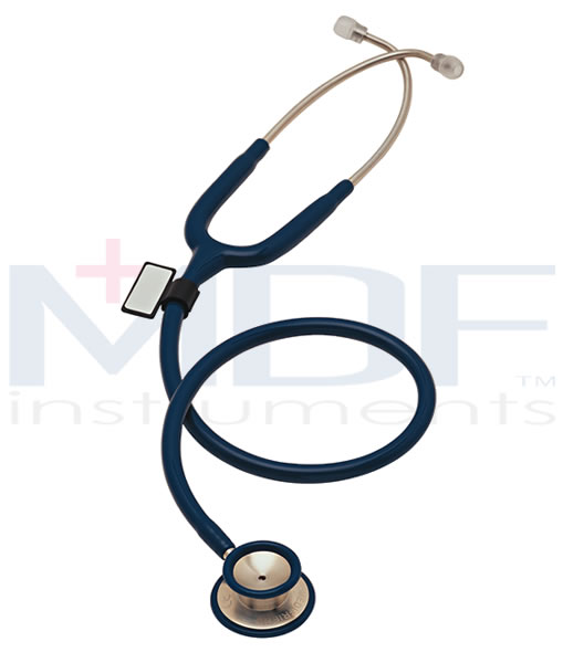 MDF Instruments MDF77704 MD One Stainless Steel Dual Head Stethoscope -Navy Blue -Adult
