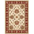 Infinity Home 36024 3 ft. 11 in. x 5 ft. 3 in. Timeless Abbasi Traditional Area Rug - Ivory