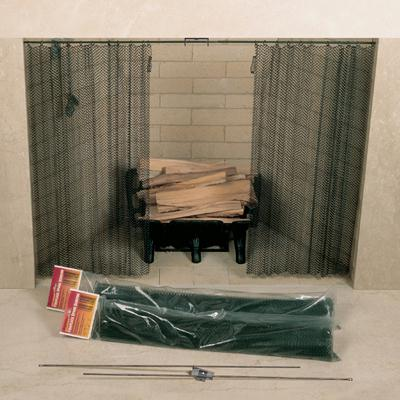 UniFlame C-6822 48in. X 22in. Fireplace Spark Screen - Rod Kit Not Included
