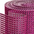 Koyal Wholesale 402044 Diamond Rhinestone Ribbon Wrap Roll - Fuchsia