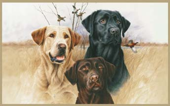 Custom Printed Rugs GREAT HUNTING DOGS Great Hunting Dogs Wildlife Rug