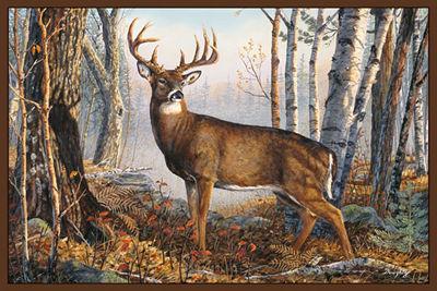 Custom Printed Rugs WHITETAIL Whitetail Wildlife Rug