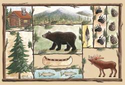 Custom Printed Rugs CABIN Cabin Wildlife Rug