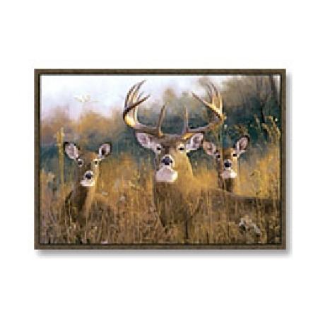 Custom Printed Rugs BUCK STOPS HERE Buck Stops Here Wildlife Rug
