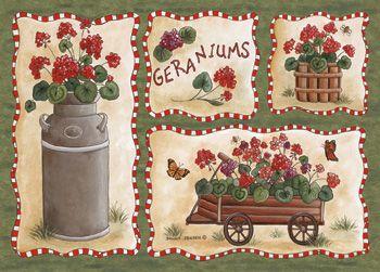Custom Printed Rugs GERANIUMS Geraniums Rug