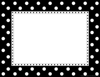 Barker Creek LL-830CH Border Chart - Black and White Dot Chart