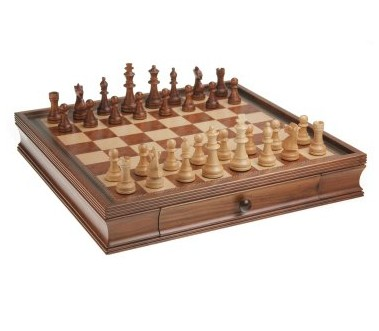 CHH 1046 19 Inch Camphor Chess and Checker Set