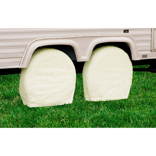 Classic Accessories 76260 32-34.5 Inch Snow White Model 4 RV Wheel Covers