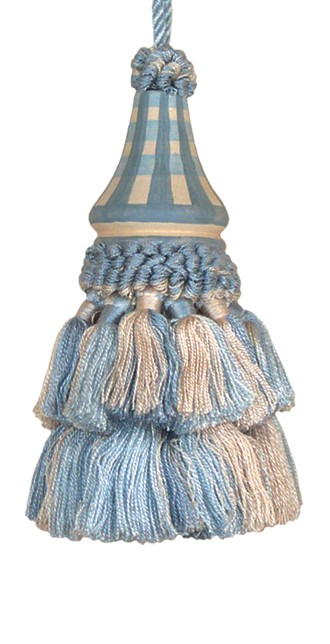 123 Creations C032.5 Inch Issabelle - L. Blue Checks Tassell