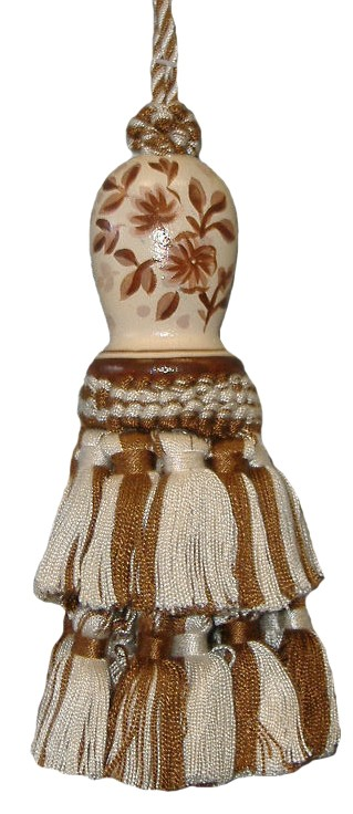 123 Creations C091BR.6 Inch Toile-brown - Hand Painted Tassel