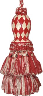 123 Creations CB047RD-5.5  Inch Harlequin - Red Hand Painted Tassel