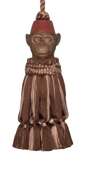 123 Creations CB054-7 Inch Monkey - Brown Tassel