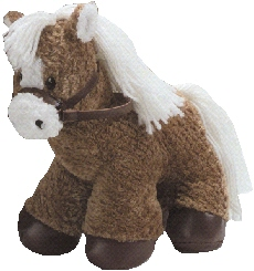 "First & Main Inc. 4375 10"" Horse With Leather Reins and Hoofs - Brown"