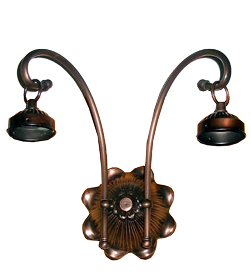 Meyda 98633 Victorian Two Light Wall Sconce