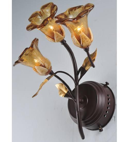 Meyda 82752 Celestial Bouquet 3 Light Wall Sconce