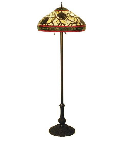 "Meyda 103185 63""H Pinecone Floor Lamp - Burgundy"