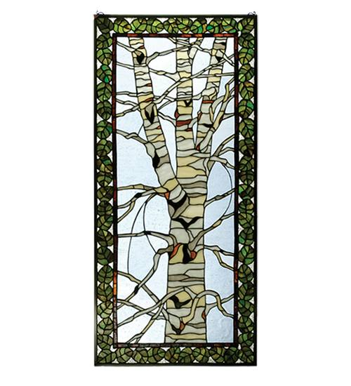 Meyda 30620 Birch Tree In Winter Window