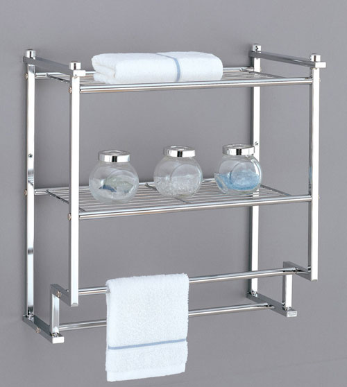Organize It All 16988 2 Tier Wall Mounting Rack with Towel Bars