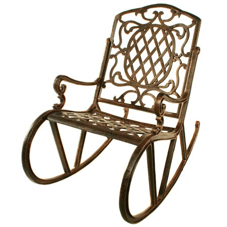 Oakland Living 2114-AB - Mississippi Rocking Chair - Antique Bronze