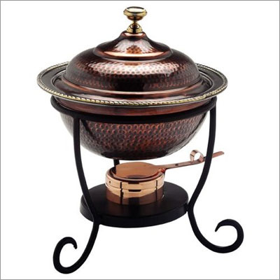 Old Dutch International 840 Round Antique Copper Chafing Dish