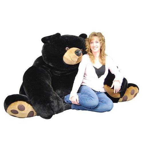 Purr-Fection 1226XLB 90 Inch Jumbo Java Plush Black Bear