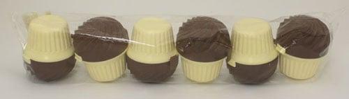 RangeKleen STG32BC Chocolate Cup Case Cupcake Holder- 6 Units Per Poly