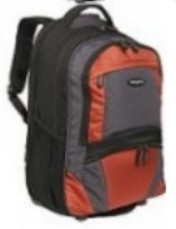 Samsonite 17878-1070 Computer Compatible Wheeled Backpack - Black-Orange