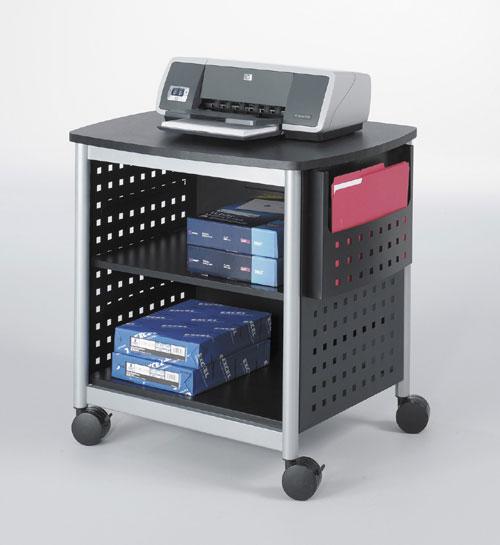 Safco 1856BL Scoot Printer Stand in Black