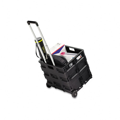 Safco 4054BL Stow Away Crate in Black