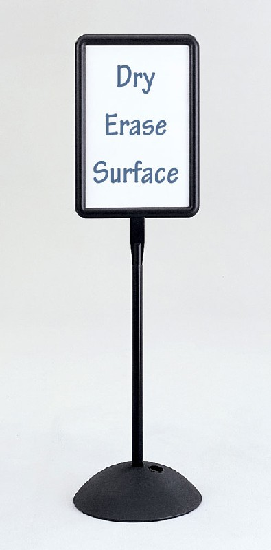 Safco 4117BL Write Way Rectangular Sign in Black