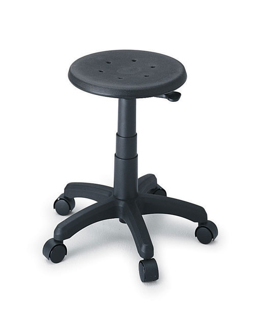 """Safco 5100 18""""Dia. x 16"""" to 21""""H Office Stool"""