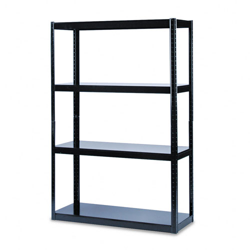 Safco 5246BL Boltless 48 x 18 Shelving in Black