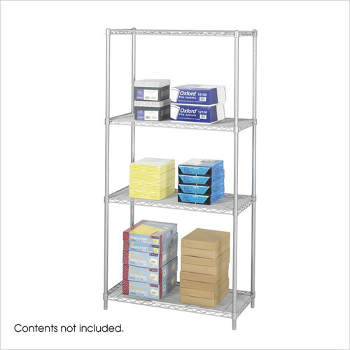 Safco 5285GR 18 x 36 Inch Wire Shelving Starter Unit in Gray