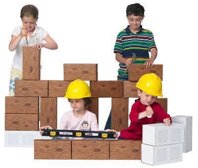 Smart Monkey Toys 5024 24 piece Giant ConstructionBlock Set
