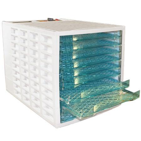 Weston Prago 75-0201-W VegiKiln Food Dehydrator With 10 Drying Trays