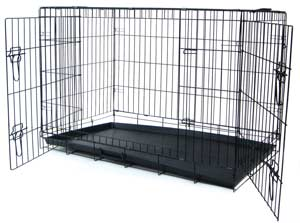 YML Group DSA36 - Small Animal Cage with Double Doors - Black - 36 x 23 x 26 Inches