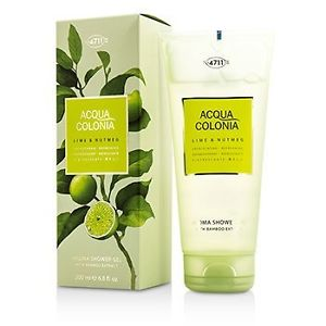 4711 195037 Acqua Colonia Lime & Nutmeg Aroma Shower Gel for Men, 200 ml-6.8 oz