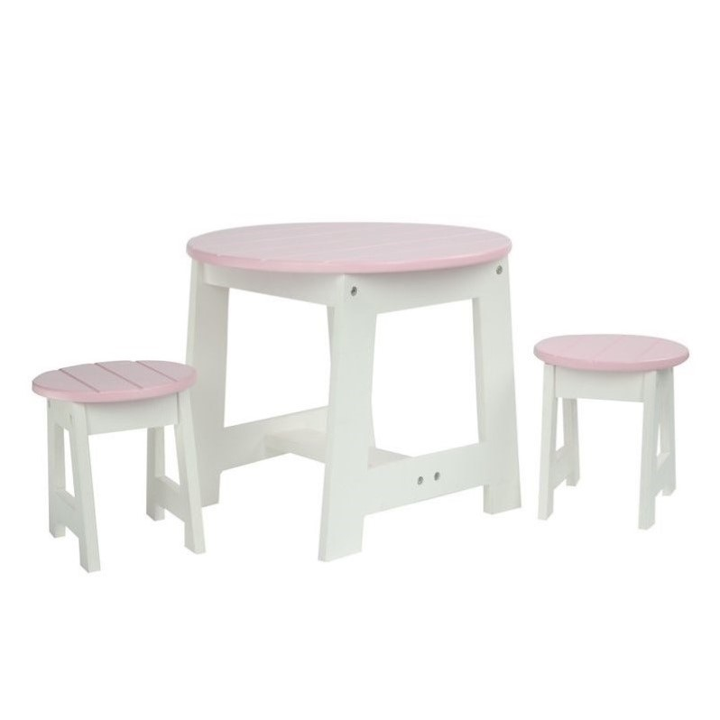 Teamson Design Corp TD-0099A Little Princess Doll Furniture - Outdoor Table & 2 Chairs Set, 18 in.