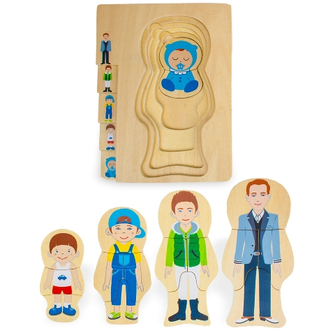 BrybellyHoldings TPUZ-401 Gregory Grows Up Layered Jigsaw Puzzle
