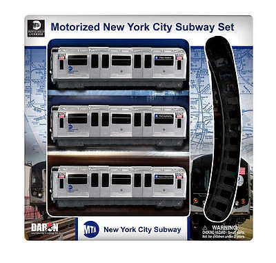 Mta - Metropolitan Transit Authority NY23050 MTA Motorized Nyc Subway Train Set with Track DARON12969